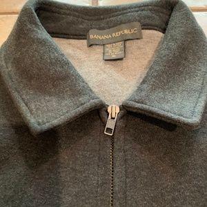 Banana Republic Gray Jacket Fleece Zip Size XL